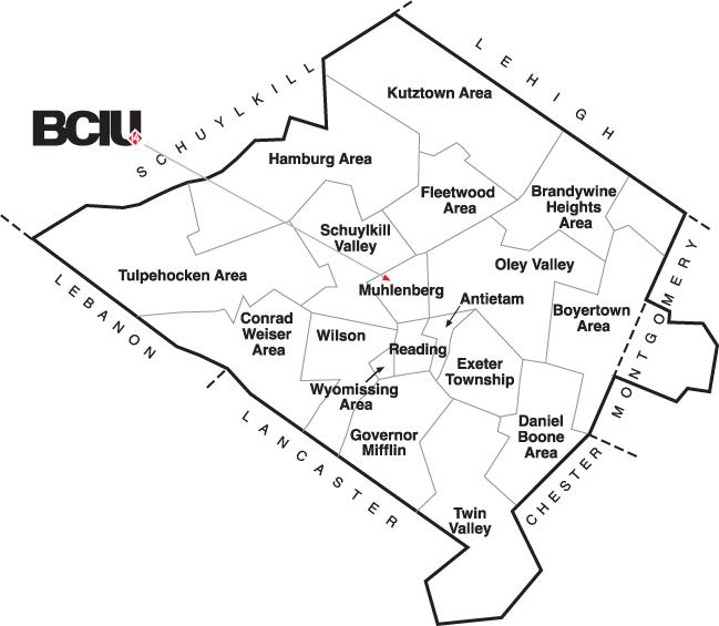 Berks County School Map